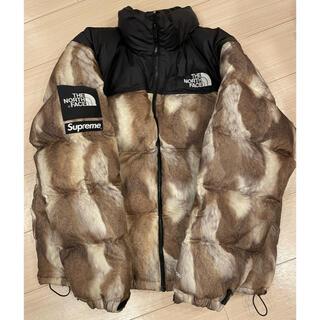 Supreme - supreme×TNF Fur Print Nuptse Jacket XL