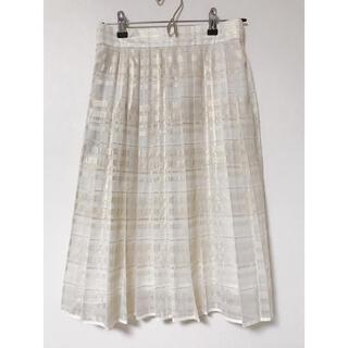 ザラ(ZARA)のtiit TOKYO シースルー プリーツスカート(ひざ丈スカート)