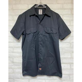 Dickies - ディッキーズ Dickies ワークシャツ 半袖シャツ オープンカラー ブラック