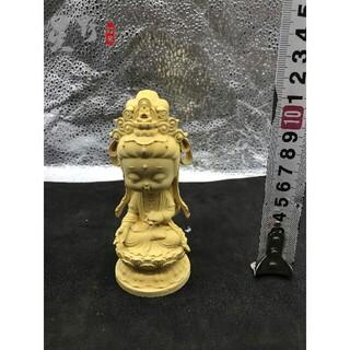 仏壇仏像 観音菩薩 精密細工 木彫仏像 供養品祈る厄除 仏教工芸品(彫刻/オブジェ)