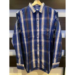 XLARGE - XLARGE PLAID 長袖シャツ 01183403-BLUE