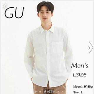 GU - GU リネンブレンドシャツ Lサイズ 長袖 ホワイト