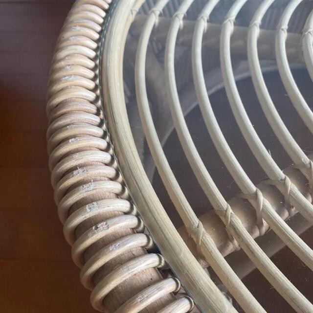 ACTUS(アクタス)の美品 ラタン 籐 センターテーブル ローテーブル 座卓 机 アジアン 北欧 インテリア/住まい/日用品の机/テーブル(ローテーブル)の商品写真