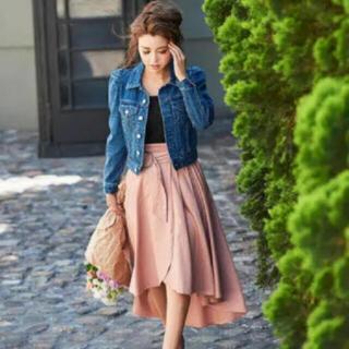 エイミーイストワール(eimy istoire)のエイミーイストワール 巻きスカート ピンク S(ひざ丈スカート)