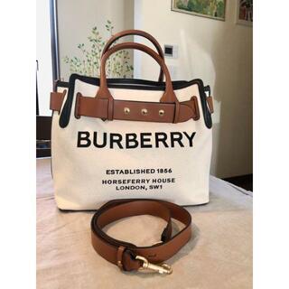 BURBERRY - Burberry トートバッグ キャンバス ショルダー 2way