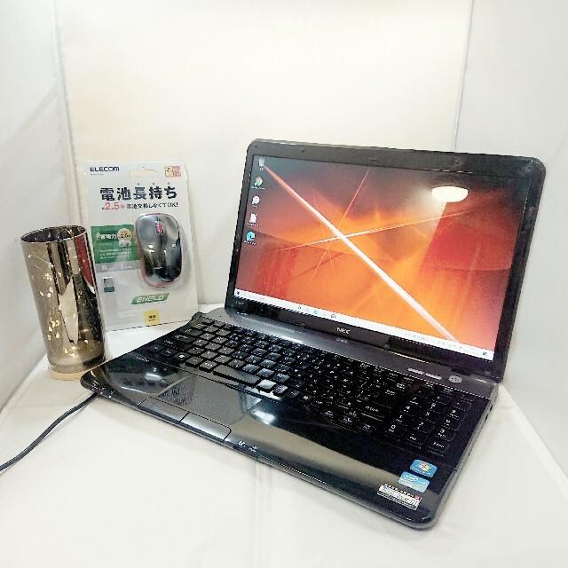 NEC(エヌイーシー)のNEC 快適ノートパソコン♪ WINDOWS10 SSD テンキーあり スマホ/家電/カメラのPC/タブレット(ノートPC)の商品写真
