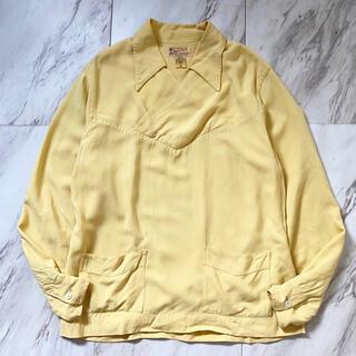 ヨウジヤマモト(Yohji Yamamoto)の希少種 vintage 40s 50s レーヨン ギャバジン プルオーバーシャツ(シャツ)