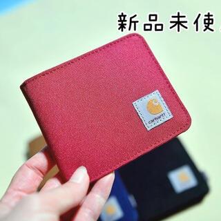 カーハート(carhartt)の【新品未使用】Carhartt カーハート 財布 二つ折り 赤 レッド 男女兼用(折り財布)