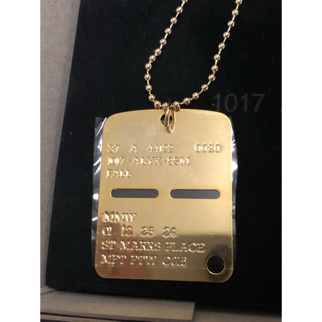 Balenciaga(バレンシアガ)の1017 ALYX 9sm MILITARY TAG ネックレス ゴールド  メンズのアクセサリー(ネックレス)の商品写真
