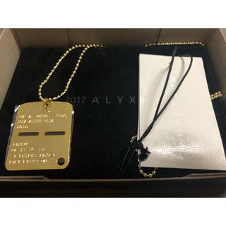 Balenciaga - 1017 ALYX 9sm MILITARY TAG ネックレス ゴールド