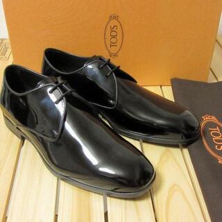 トッズ(TOD'S)の新品 TOD'S イタリア製 パテントレザー エナメルシューズ 黒 UK6.5(ドレス/ビジネス)