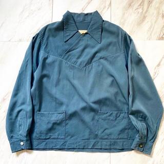 マルタンマルジェラ(Maison Martin Margiela)の希少種 vintage 40s 50s ギャバジン ブルーグレースキッパーシャツ(シャツ)