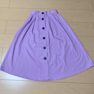GU - GU*フロントボタンフレアスカート