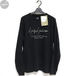 ヨウジヤマモト(Yohji Yamamoto)の20AW ヨウジヤマモト ニューエラPARISロゴ長袖Tシャツ黒4新品ロンTパリ(Tシャツ/カットソー(七分/長袖))
