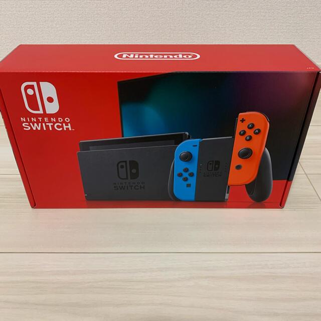 任天堂(ニンテンドウ)のNintendo Switch JOY-CON(L) ネオンブルー/(R) ネオ エンタメ/ホビーのゲームソフト/ゲーム機本体(家庭用ゲーム機本体)の商品写真