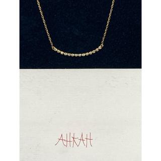 アーカー(AHKAH)のAHKAHビリーブユー K18イエローゴールド/ダイヤ0.1カラット(ネックレス)