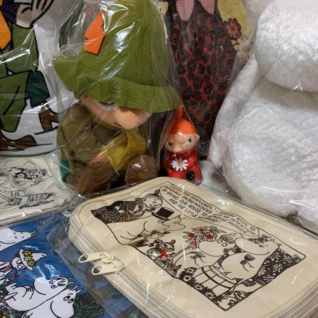 ムーミンぬいぐるみ、クッション、エアーマスコットなど19点セット エンタメ/ホビーのおもちゃ/ぬいぐるみ(キャラクターグッズ)の商品写真