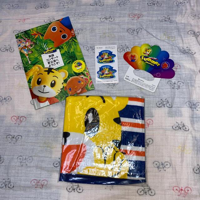 しまじろう英語コンサート2021プレミアムシート限定ループタオル エンタメ/ホビーのおもちゃ/ぬいぐるみ(キャラクターグッズ)の商品写真