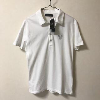 ディズニー(Disney)の【新品】ミッキーマウス ポロシャツ メンズ 半袖 Tシャツ Dホワイト L(ポロシャツ)