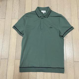 LACOSTE - ラコステ ポロシャツ ボタン隠しタイプ セージグリーン メンズM位