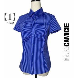 NARACAMICIE -  【NARACAMICIE】ナラカミーチェ・青ストライプ柄半袖シャツ