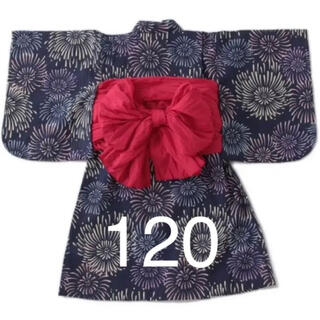 petit main - プティマイン 花火柄浴衣 120
