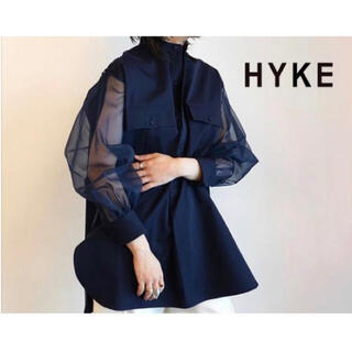 HYKE - 新品タグ付き HYKE ハイク GROSGRAIN SHIRT ロングシャツ