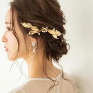 Ksmily パールゴールドヘッドドレス ウェディング