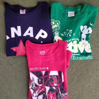 アナップキッズ(ANAP Kids)の男の子130夏服Tシャツ3枚セット(Tシャツ/カットソー)