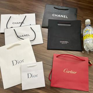 シャネル(CHANEL)のショップ袋 紙袋 7枚 ルイヴィトン シャネル ディオール カルティエ(ショップ袋)