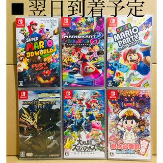 ニンテンドースイッチ(Nintendo Switch)の6台●マリオ3DW●マリオカート8●マリパ●モンハンライズ●スマブラ●桃鉄(家庭用ゲームソフト)