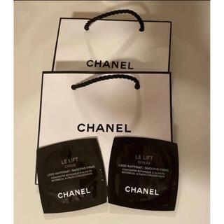 シャネル(CHANEL)のCHANEL  ル リフトクリーム&セラムサンプル&ショップ袋2枚セット(サンプル/トライアルキット)