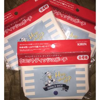 キリン(キリン)の■ 非売品 未使用 キリン ディズニーデザイン ウェットティッシュポーチ3点(キャラクターグッズ)