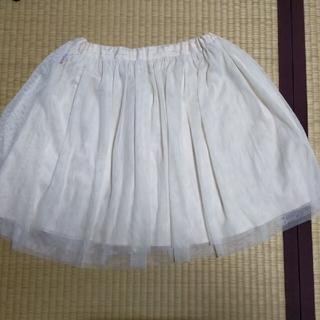 メゾピアノジュニア(mezzo piano junior)のメゾピアノ チュールスカート Lサイズ(スカート)