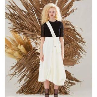 エンフォルド(ENFOLD)のUN3D ポケットバルーンスカート ホワイト(ロングスカート)