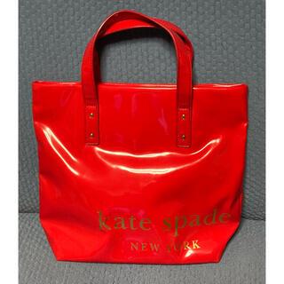 ケイトスペードニューヨーク(kate spade new york)のケイトスペード kate spade エナメル トートバッグ 赤 美品(トートバッグ)