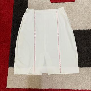 マックスマーラ(Max Mara)のスポーツマックスSPORTMAX タイトスカート 白#36(ひざ丈スカート)