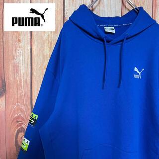 プーマ(PUMA)の90s【PUMA】プーマ 両サイド 刺繍ブランドロゴ デザインパーカー フーディ(パーカー)