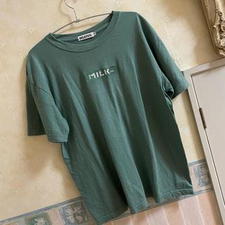 ミルクフェド(MILKFED.)のミルクフェド SS TEE EMBROIDERY BAR AND STENCIL(Tシャツ(半袖/袖なし))