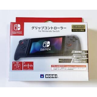 ニンテンドースイッチ(Nintendo Switch)の【新品未使用】グリップコントローラー HORI クリアブラック Switch(その他)