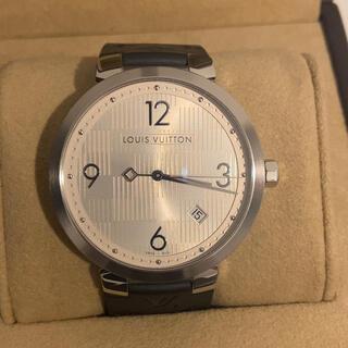 ルイヴィトン(LOUIS VUITTON)のタンブール ダミエ スリム シルバー 39mm メンズ(腕時計(アナログ))