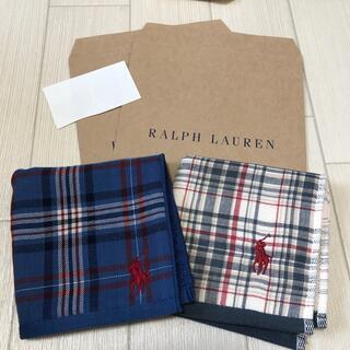 ラルフローレン(Ralph Lauren)の新品★ラルフローレン ガーゼハンカチ 2枚セット(ハンカチ)