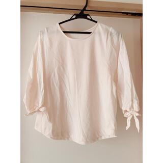 サマンサモスモス(SM2)の袖リボン トップス Mサイズ(カットソー(長袖/七分))