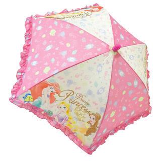 ディズニー(Disney)のキッズ傘 ディズニー プリンセス フリル付き傘 40cm 60020 子供傘(傘)