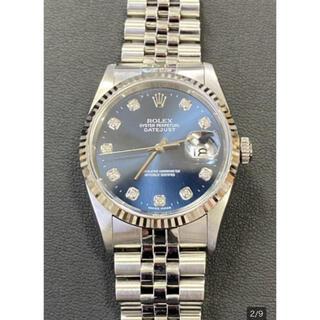 ロレックス(ROLEX)の希少ブルー文字版 10Pダイヤ(腕時計(アナログ))