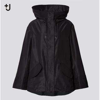 UNIQLO - 新品L定価以下★+JシルクブレンドオーバーサイズパーカLブラック