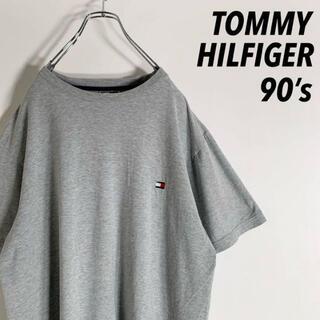 【90s】オールド トミー ワンポイント 刺繍ロゴ Tシャツ(Tシャツ/カットソー(半袖/袖なし))