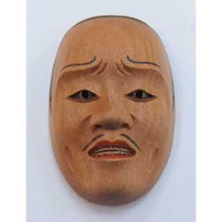 帯留◆能面師 長澤草春作◆能面形帯留【邯鄲男】 共箱◆新品(彫刻/オブジェ)