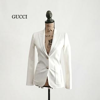 グッチ(Gucci)のGUCCI グッチ ジャケット ホワイト レディース(テーラードジャケット)
