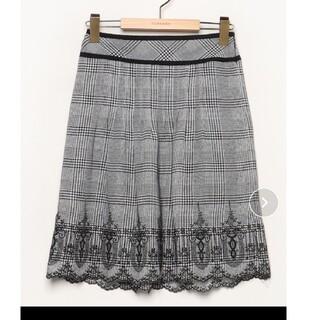 ジャスグリッティー(JUSGLITTY)の〈JUSGLITTY〉チェックひざ丈スカート(ひざ丈スカート)